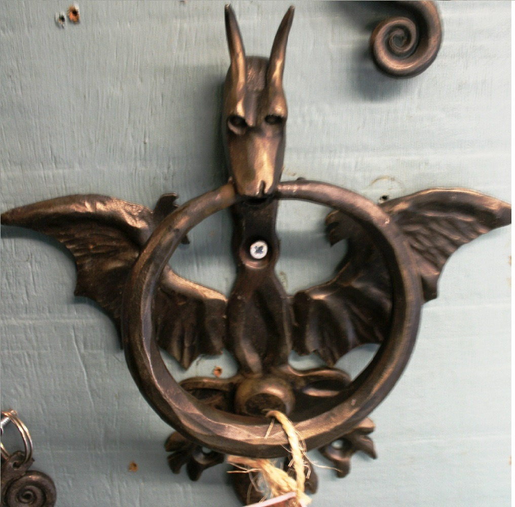 Dragon door knocker west country blacksmiths - Dragon door knocker ...