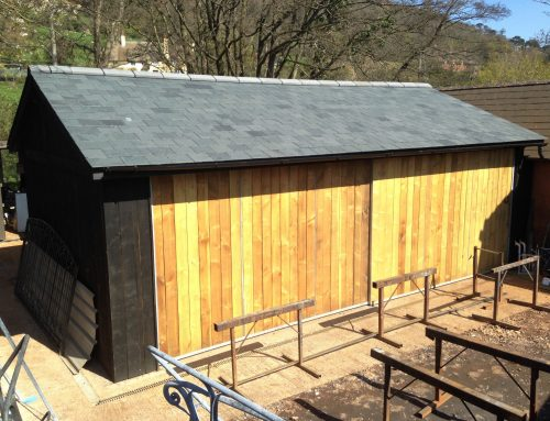 Completion of a new workshop at Allerford Forge