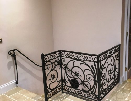 Decorative handcrafted balustrade and handrail in Somerset by West Country Blacksmiths