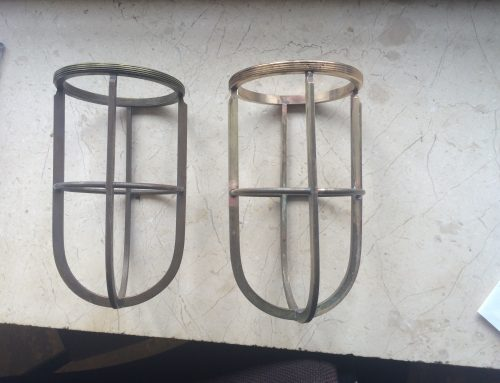 Antique brass light casements repaired by West Country Blacksmiths