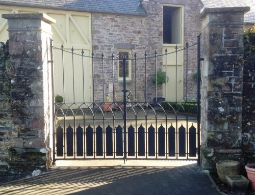 Bespoke gates project in Combe Martin, Devon by West Country Blacksmiths
