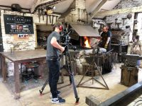 Filming at West Country Blacksmiths