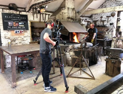Filming blacksmiths at West Country Blacksmiths for an architecture program due in late 2019.