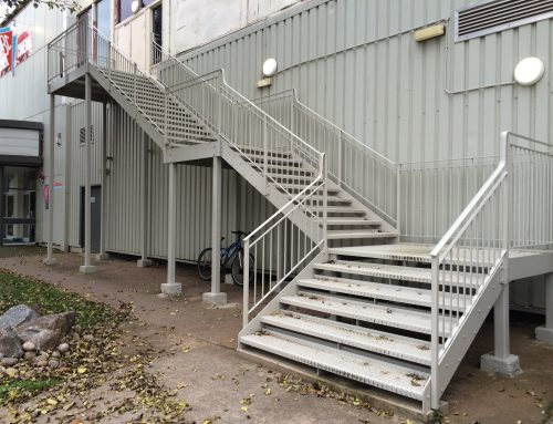Bespoke fire escape at Butlins, Minehead by West Country Blacksmiths