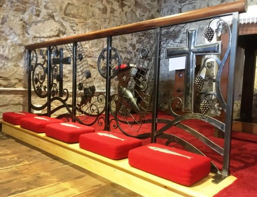 Bespoke alter rails at for St Peter's Church in Minehead by West Country Blacksmiths