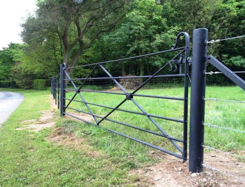 Estate fencing and gate project at the Pencarrow House by West Country Blacksmiths