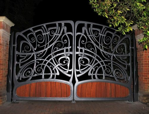 Stunning bespoke automated gates made to an unique artistic design