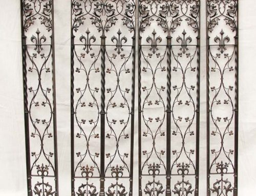 Hand forged panels – Panels made to replicate metalwork on display in the V&A Museum in London