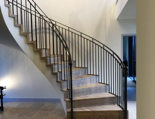Bespoke metal spiral balustrade by West Country Blacksmiths