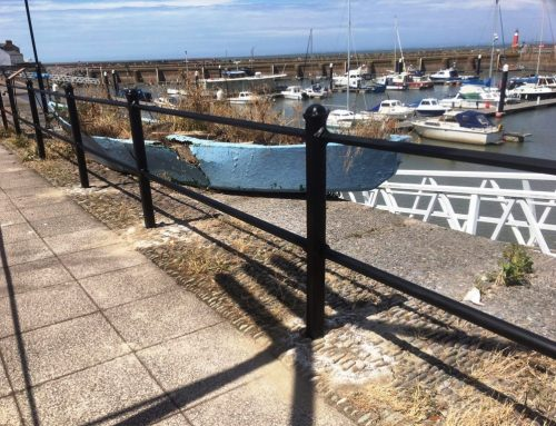 Railing repair at Watchet Marina by West Country Blacksmiths