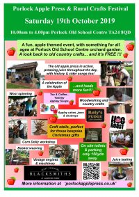 Porlock Apple Day Poster
