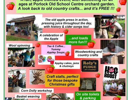 Porlock Apple Press & Rural Craft Festival – Saturday 19th October