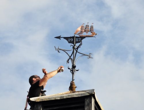 Weathervane Restoration undertaken for the Market House Museum in Watchet to celebrate their 40th Anniversary.